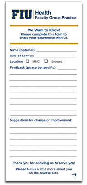 patient feedback form